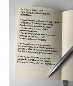 Handschriftlicher Eintrag